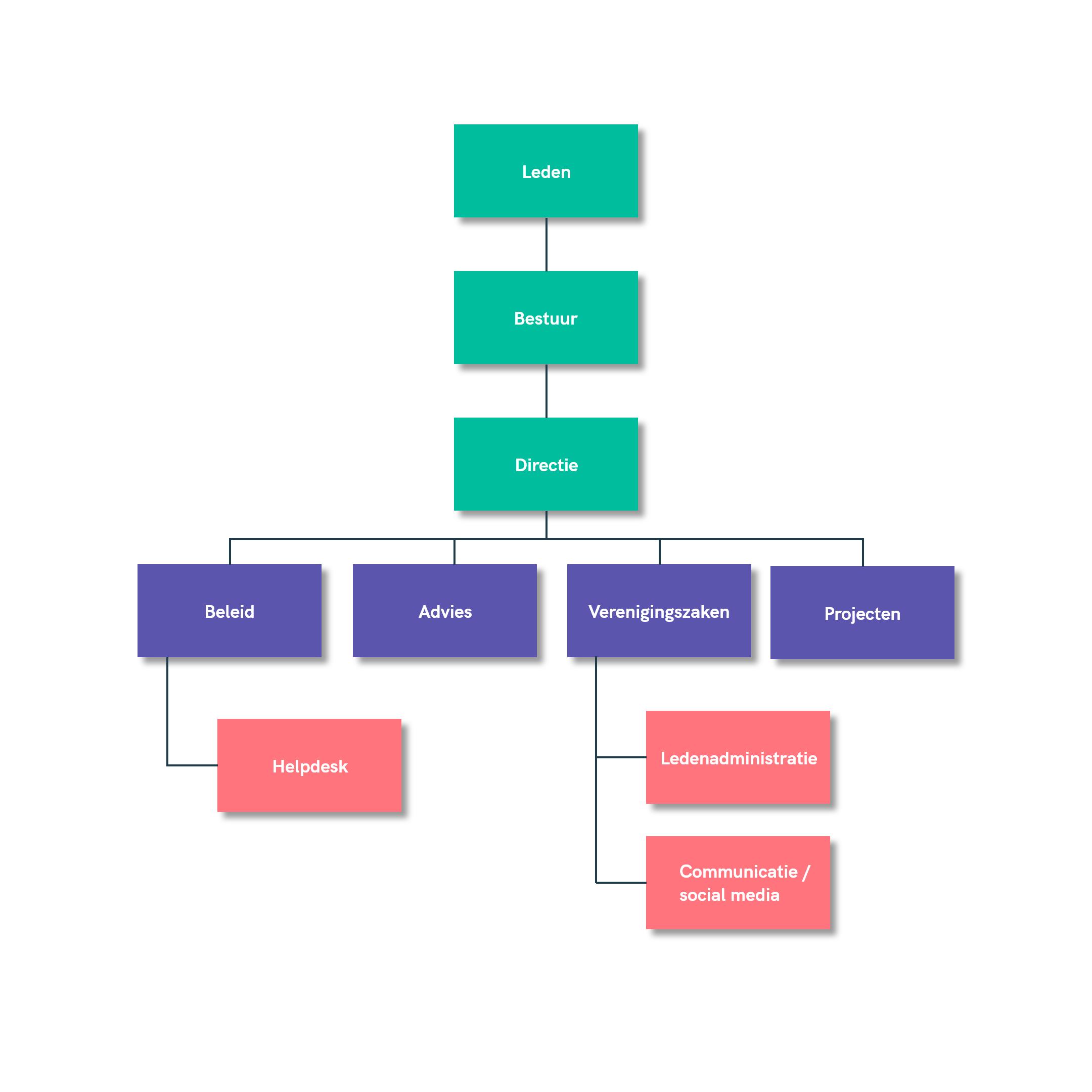 Organogram bestuur en directie BVKZ
